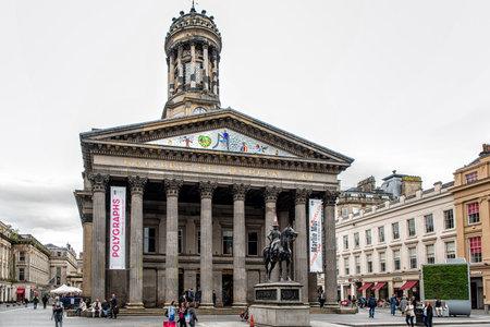 GLASGOW, SCOTLAND - JULY 07, 2017: Gallery of Modern Art (GoMA) of Glasgow, Scotland. Glasgow is the largest city in Scotland