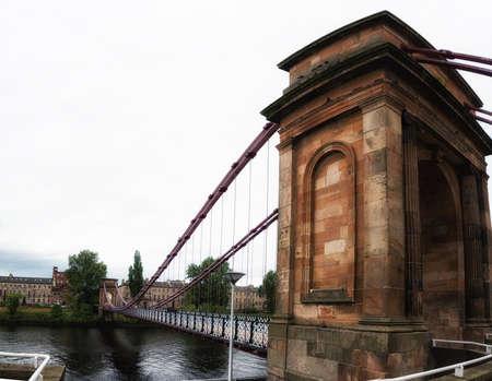 riverbank: South Portland Street Bridge, Glasgow Stock Photo