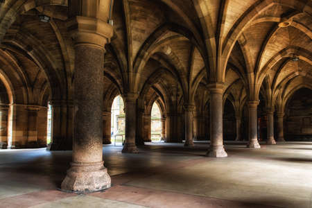 scottish culture: The Cloisters (also known as The Undercroft) connect the East and West quadrangles and lead inside the Gilbert Scott Building to the stunning Bute Hall, where the University's graduation ceremonies are held, and the Hunterian Museum. Editorial