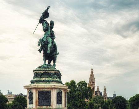 Statue of Archduke Karl-Ludwig-John on Heldenplatz. Vienna, Austria