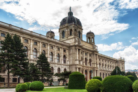 Vienna, Austria – July 9, 2017.Museum of Natural History (German: Naturhistorisches Museum), This large natural history museum located in Vienna covers 8,700 square metres and houses over 30 million object including the famous Venus of Willendorf statue. 報道画像