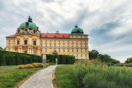 Vienna, Austria - July 09, 2017: Klosterneuburg: Historic monastery of Klosterneuburg, Austria. The monastery is famous for the Verduner Altar. Editorial
