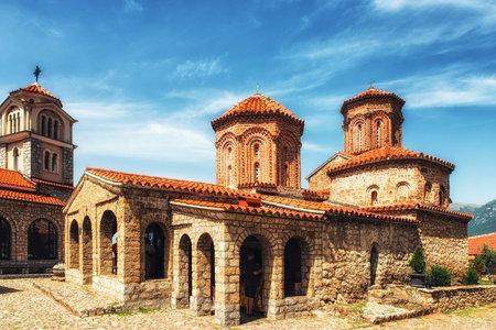 Macedonian Orthodox church of St. Naum in the St. Naum monastery complex, Lake Ohrid, Macedonia Editorial