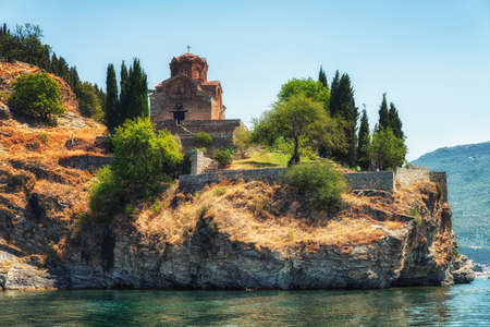 the Church of St John of Kaneo Byzantine style of the XIIIth century, Republic of Macedonia, Ohrid,