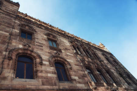 The historical building of the main post office in downtown Mexico City