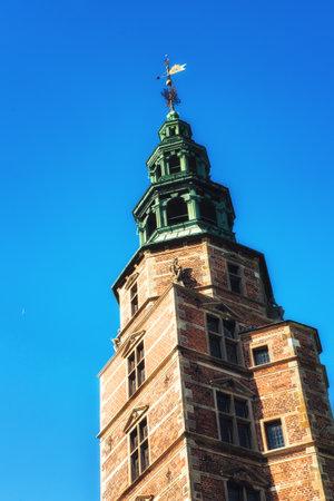 Copenhagen, Denmark - September 20, 2017: Rosenborg Castle and The Kings Garden. Rosenborg Castle (Rosenborg Slot) is a renaissance castle located in Copenhagen and Rosenborg Castle Gardens (Kongens Have) is the oldest and most visited park in Copenhagen
