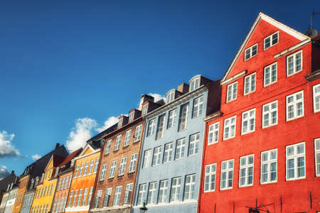 Colored houses, Copenhagen, Denmark Stock Photo