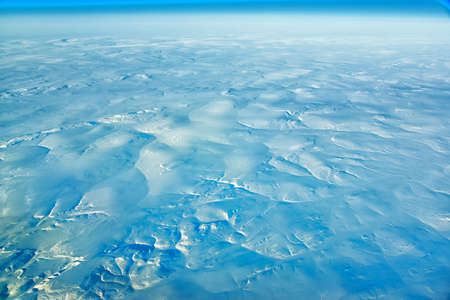 Aerial view of extreme artic terrain. Stock Photo