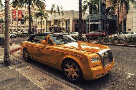 Los Angeles, CA, USA - February 02, 2018: Rolls-Royce Phantom in Beverly Hills Los Angeles California USA