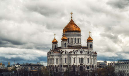 The Cathedral of Christ the Saviour is a Russian Orthodox cathedral in Moscow, Russia, on the northern bank of the Moskva River Zdjęcie Seryjne