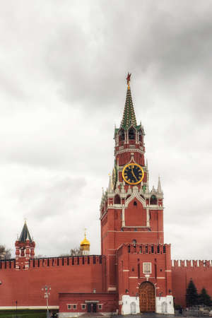 Moscow, Russia, 26th April 2018: Spasskaya Tower Red Square Moscow Russia