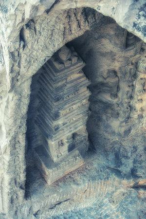 Luoyang, Hernan, China-December 25,2017 : Longmen Grottoes in Luoyang, China