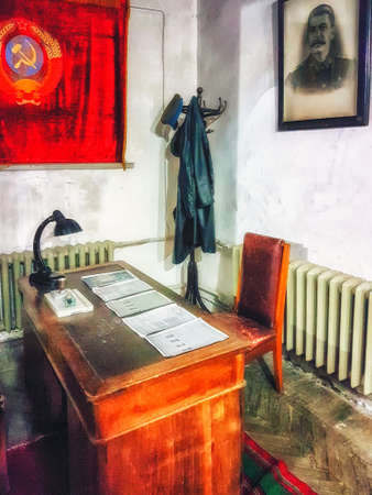Gori, Georgia  - April 13, 2017 :  Interior of Stalin cabinet at the Museum of Joseph Stalin in Gori, . Joseph Stalin was the leader of the Soviet Union from the 1920s until in1953.