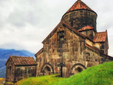 Sanahin, Armenia, April 11, 2017: The historic Armenian monastery from the 10th century located in the village of Sanahin, in the province of Lorri in Armenia