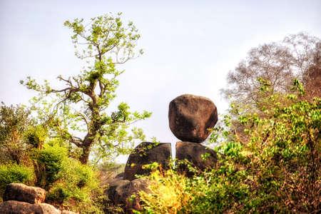 Landscape in remote area of Wa Ghana.