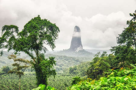 Mountain peak of Cao Grande, São Tomé and Príncipe