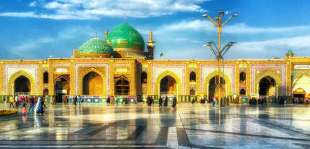 Mashhad, Iran - October 04, 2015: Holy Shrine of Imam Reza in Mashhad. The mausoleum of Imam Reza is the largest mosque in the world by dimension. Editorial