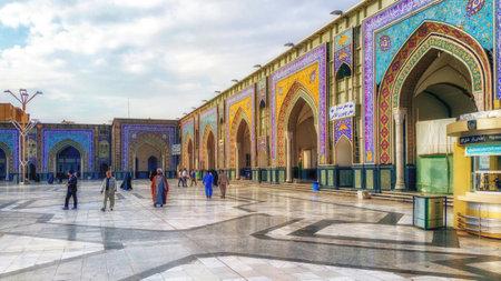 Mashhad, Iran - October 04, 2015: Around the Shrine complex. Haram e Razavi. Mashhad. Iran. Editorial
