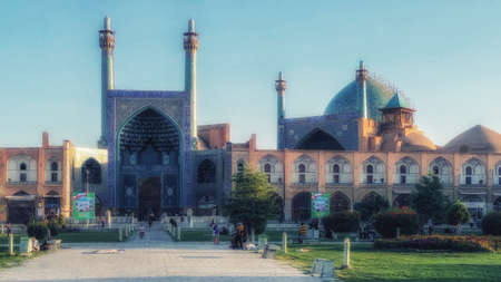 Isfahan, Iran - October 02, 2015: Imam Square in Isfahan, Iran. It is known as Naqsh-e Jahan Square and has led to its designation