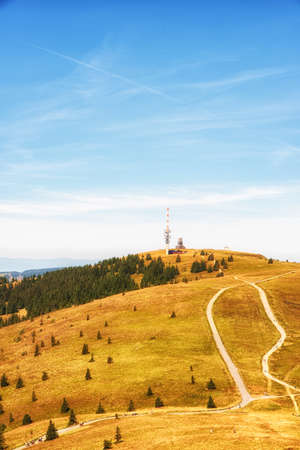 Feldberg is a mountain peak in the Black Forest with TV tower