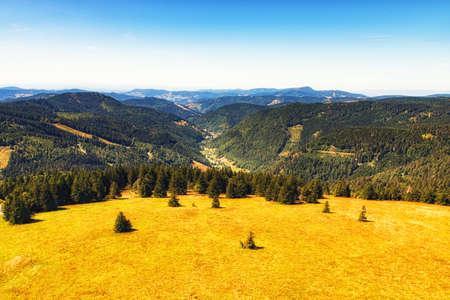 Panoramic View from the Feldberg in the Black Forest, Germany