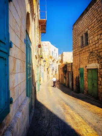 Streets of Bethlehem, West Bank, Palestina. Imagens - 121068416