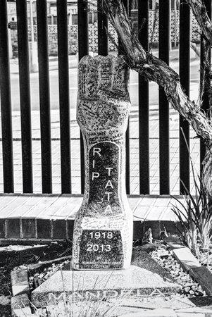 Black and White memorial, Nelson Mandela