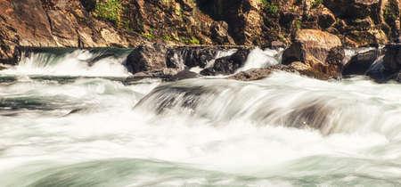 Fast Flowing River in Wulai, Taiwan.