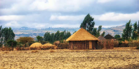 Ethiopia: traditional Hamar tribe house made from straw and acacia tree sticks.
