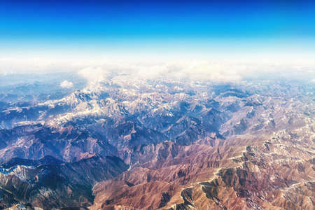 Himalayian Mountain range from the air. Banco de Imagens
