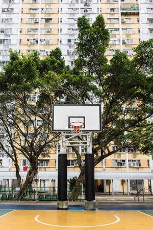 Basketball Court in a public housing estates in Hong Kong.