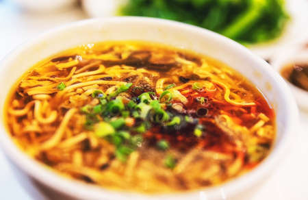 Close up shot of delicious hot and sour soup Stockfoto