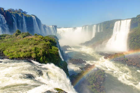 Iguazu Falls (Iguacu Falls) on the Border of Brazil and Argentina