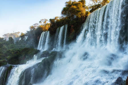 The San Martin Falls at Iguazu National Park in Misiones Province, Argentina.