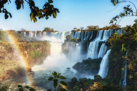 Iguazu: view of the spectacular Iguazu Falls, one of the most important tourist attractions of Latin America