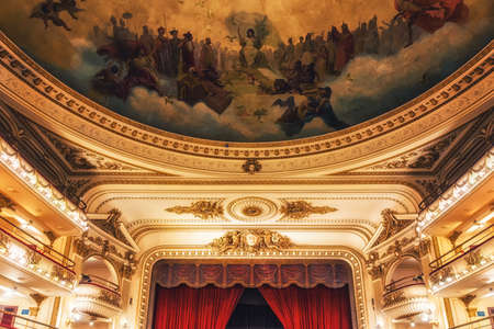 """Buenos Aires, Argentina - August 29, 2019: El Ateneo Grand Splendid is a bookshop in Buenos Aires that was named the """"world's most beautiful bookstore"""" by National Geographic in 2019."""