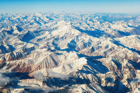 Aerial view of the Andes Mountains.