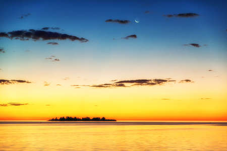 The Uruguayan city of Colonia del Sacramento has incredible sunsets. A small isle in Río de la Plata lies in the shadow.