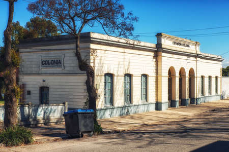 Historic Colonia Train Station, Colonia del Sacramento, Uruguay 版權商用圖片 - 137848082