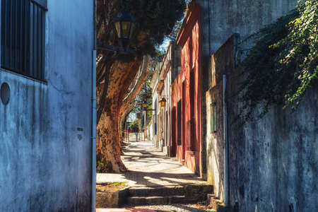 Streets of the old town of Colonia Del Sacramento, Uruguay Stock Photo