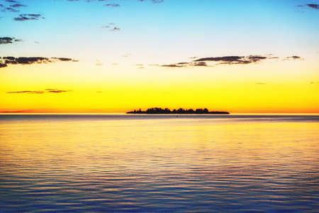 The Uruguayan city of Colonia del Sacramento has incredible sunsets. A small isle in Río de la Plata lies in the shadow.