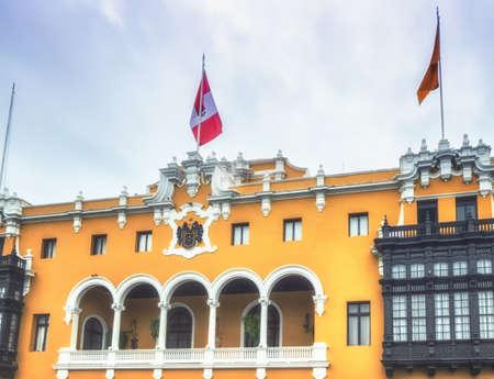 Plaza Mayor city hall, Lima, Peru