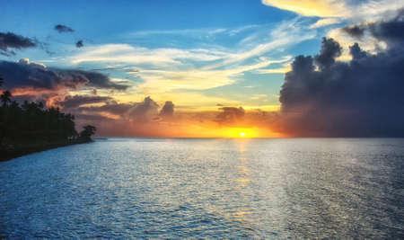 A Beautiful Sunset over the west coast of Fiji.