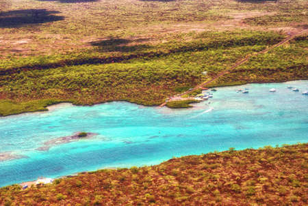 Laguna de las Ninfas, a saltwater lagoon in the town of Puerto Ayora, on Santa Cruz island in the Galapagos Islands.