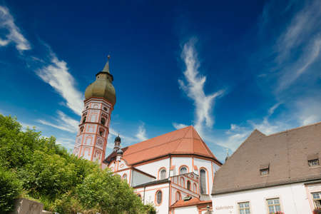 Andechs upon the Ammersee Upper Bavaria Germany Benedictine monastery with brewery.