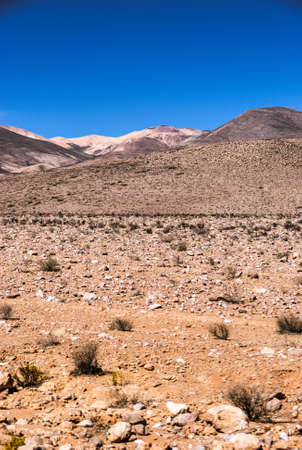 The Atacama Desert is a desert plateau in South America covering a 1,600 km strip of land on the Pacific coast, west of the Andes Mountains. The Atacama Desert is the driest nonpolar desert in the world Фото со стока