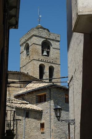 gate church of  PUeyo de Araguas huesca spain photo