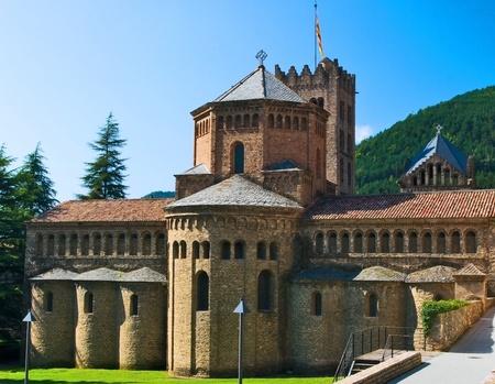 romanesque: Church romanesque of Ripoll,Girona.Spain.