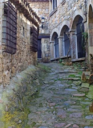 Streett of Tossa de Mar,Catalonia.Spain Reklamní fotografie