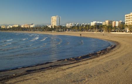 Beach of Salou.Catalonia.Spain